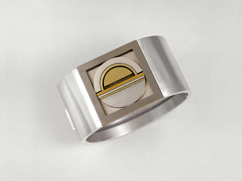 Bracelet, silver, gold, white gold, stainless steel, 1974/75