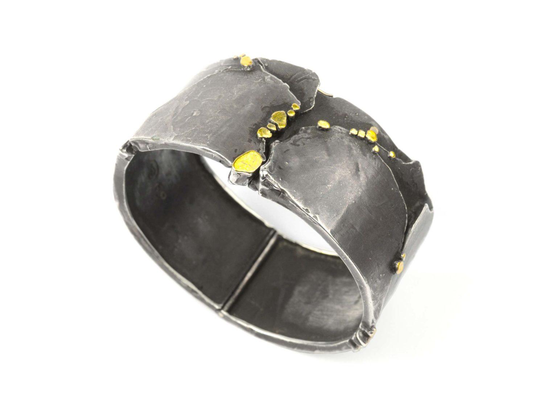 Bracelet, oxidized silver, gold, 1969