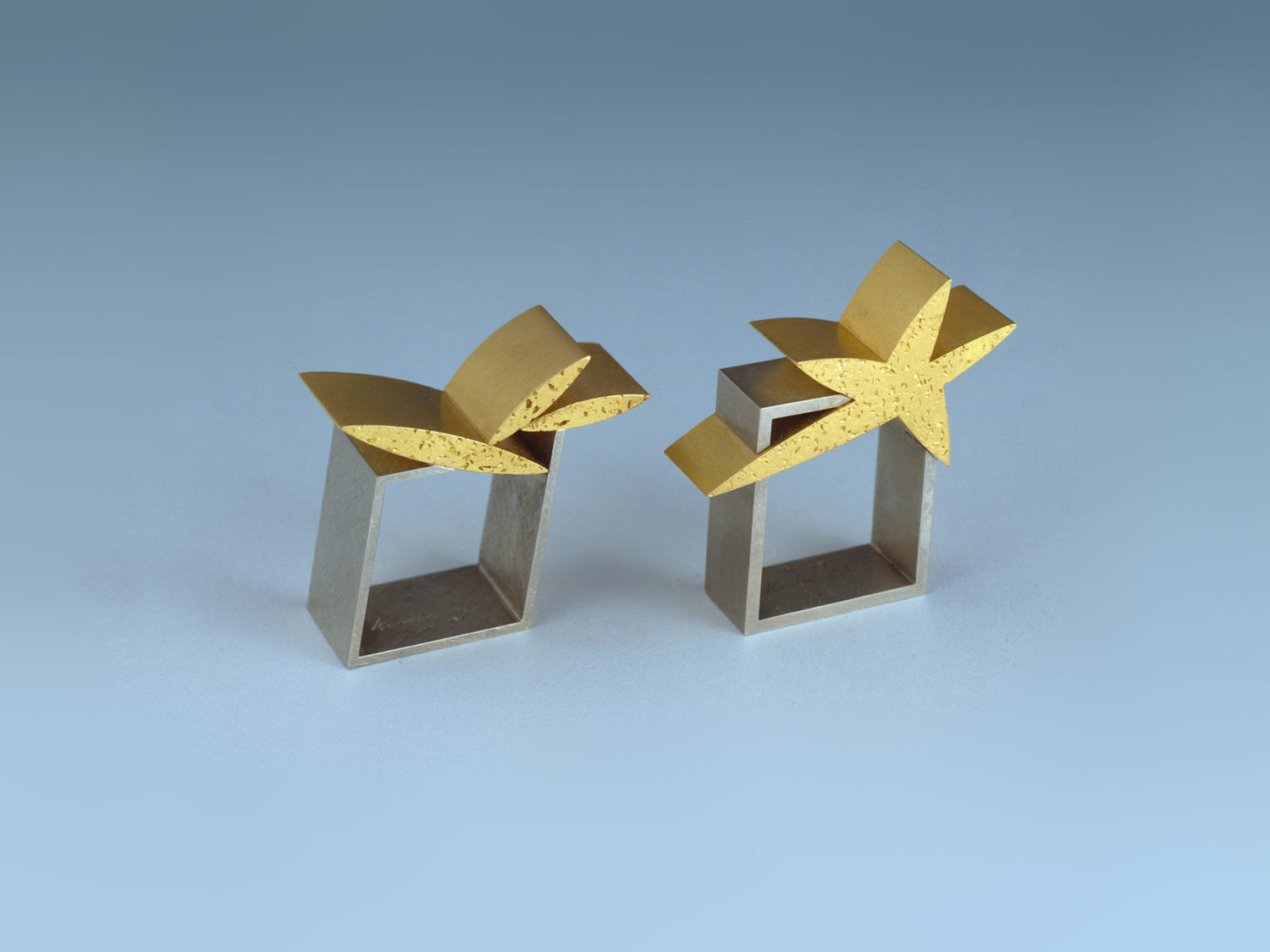 TWO RINGS, GOLD, WHITE GOLD, 1998