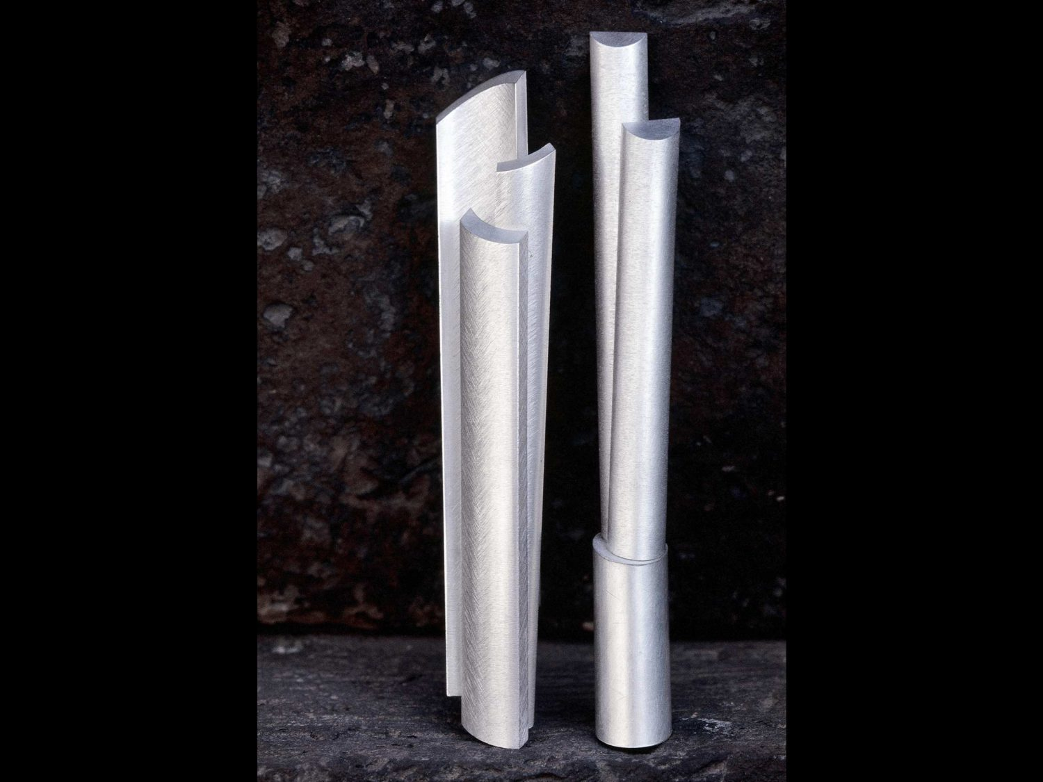Two brooches, silver, 2000