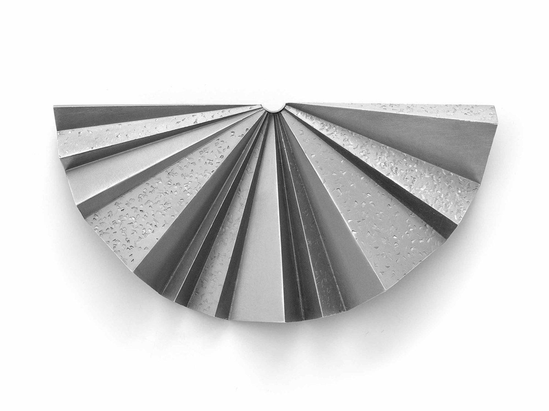 Brooch, oxidized silver, 2016