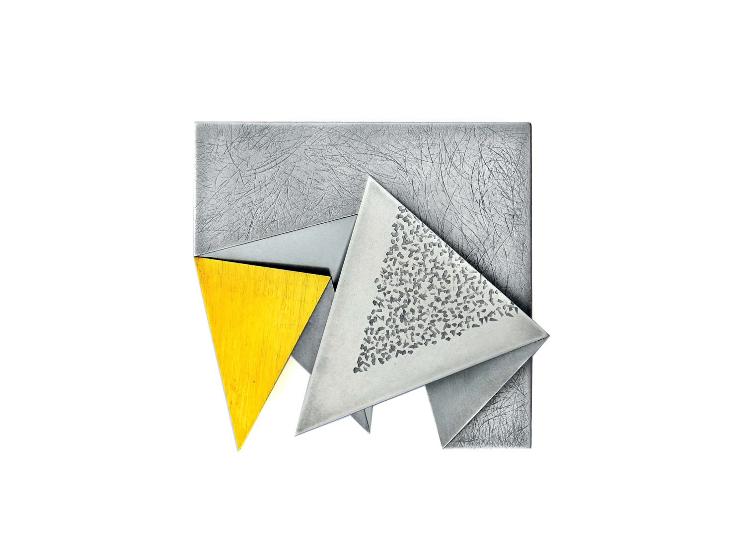 brooch, oxidized silver, gold, stainless steel, 2010