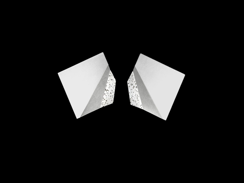 earrings, silver, 1998
