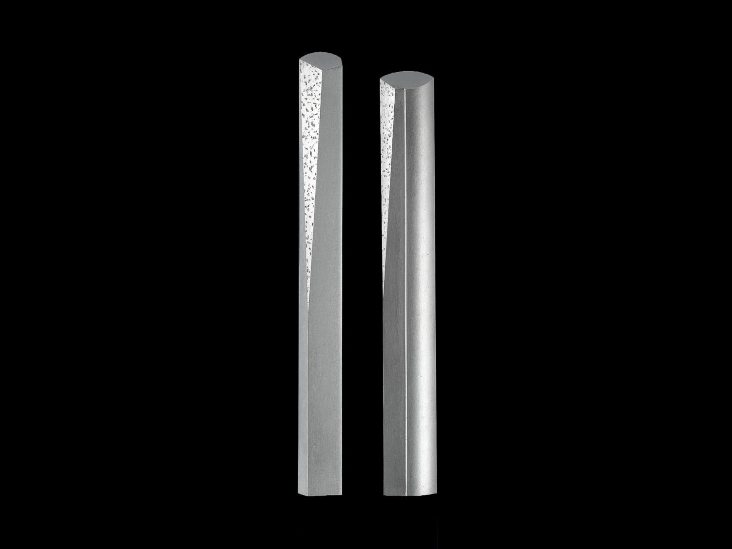 Two brooches, silver, 1993