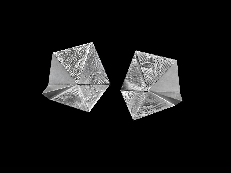 earrings, silver rhodanized, 2018