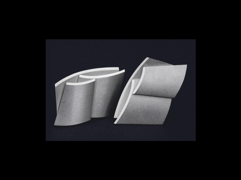 Earrings, silver, 1997