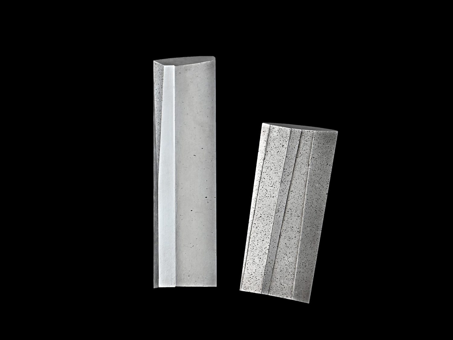 Two brooches, silver, 1992