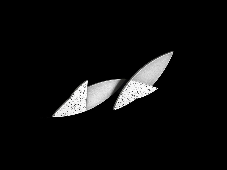 Earrings, silver, 1993