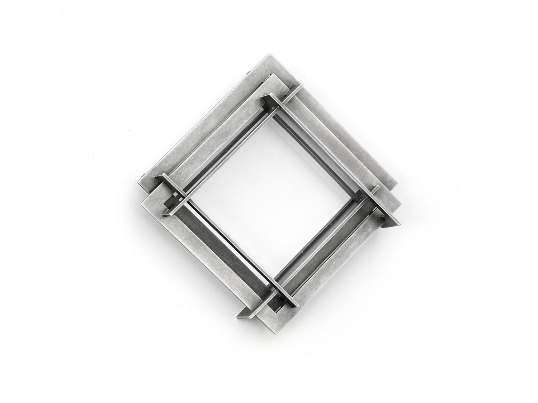 Brooch, oxidized silver, 2009