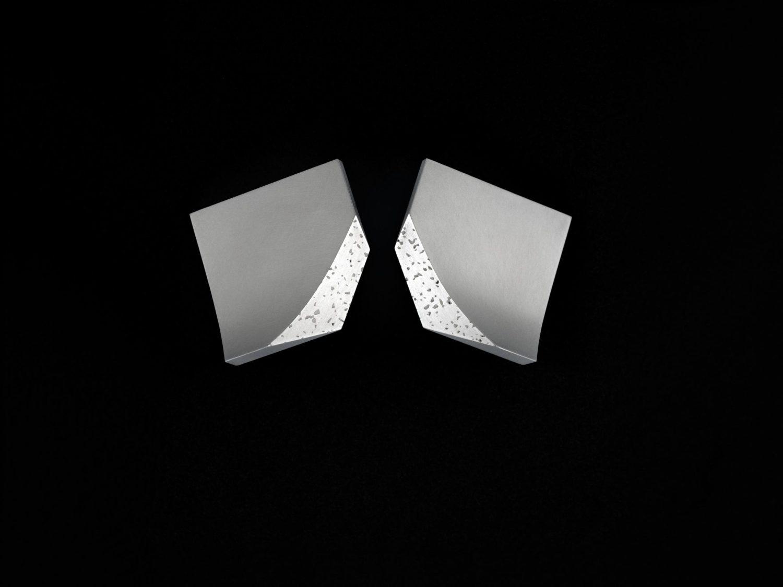 earrings, silver, 1995