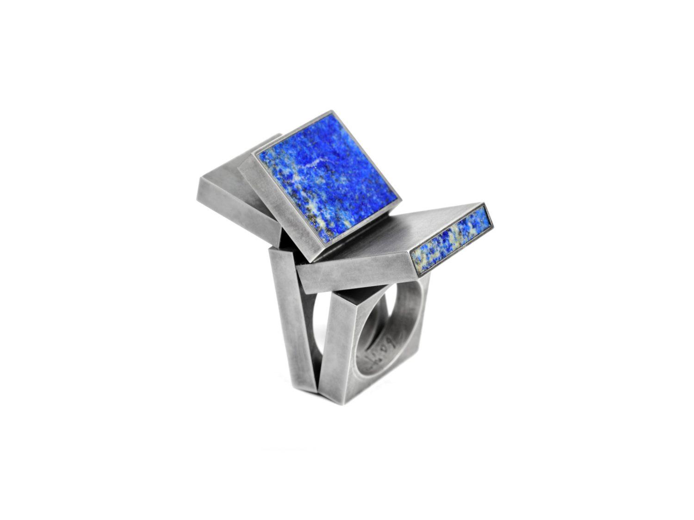 Ring, oxidized silver, lapislazuli, 2009