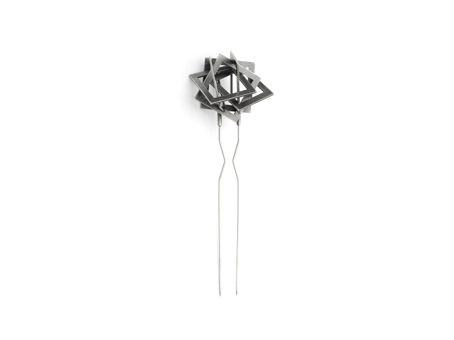 Brooch, oxidized silver, stainless steel, 2006