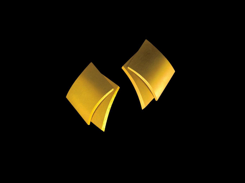 earrings, gold, 1997