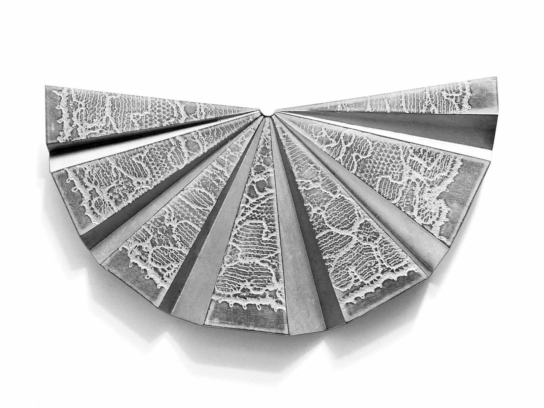 Brooch, rhodanised silver, 2017