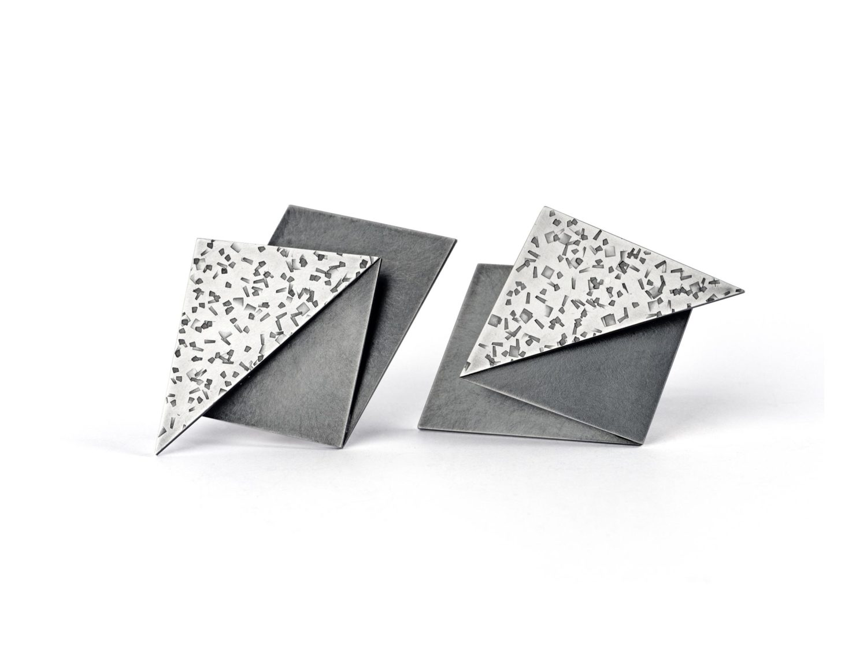 earrings, oxidized silver, 2009