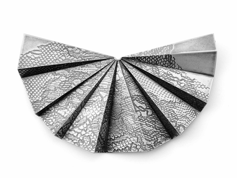 Brooch, oxidized silver, 2018