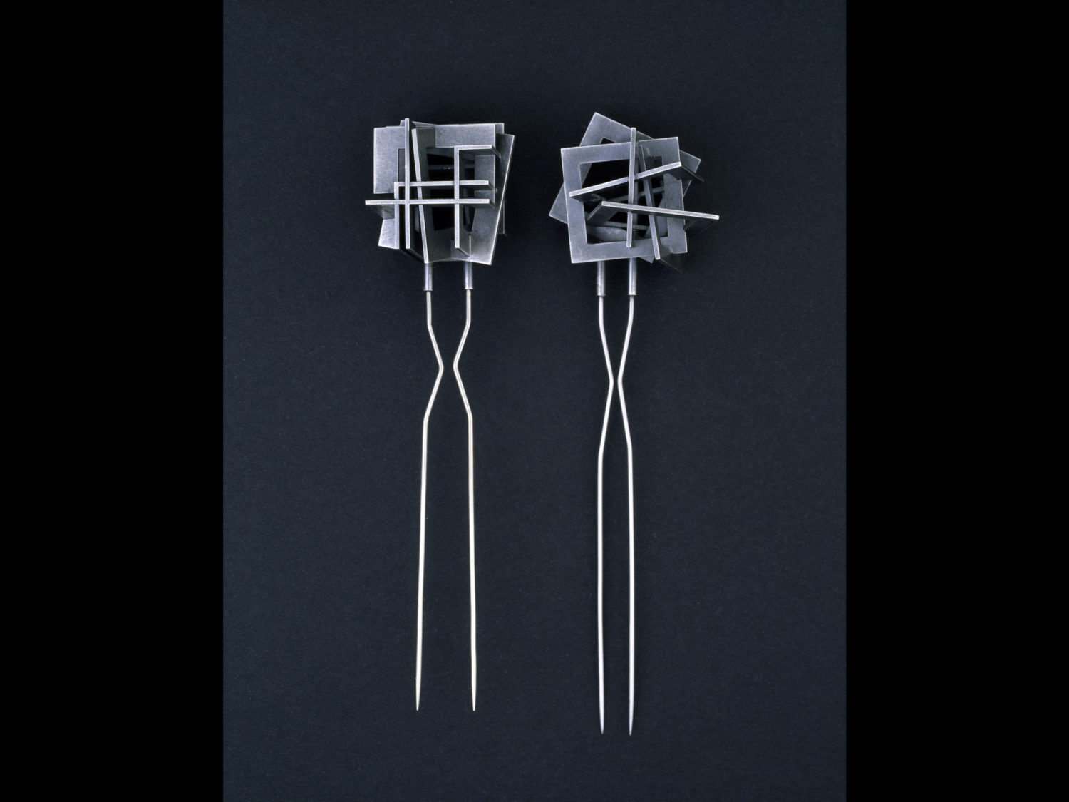 Brooch, oxidized silver, stainless steel, 2002/2006