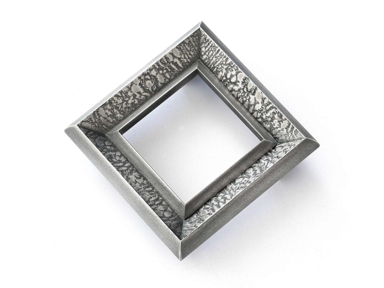 Brooch, oxidized silver, 2019