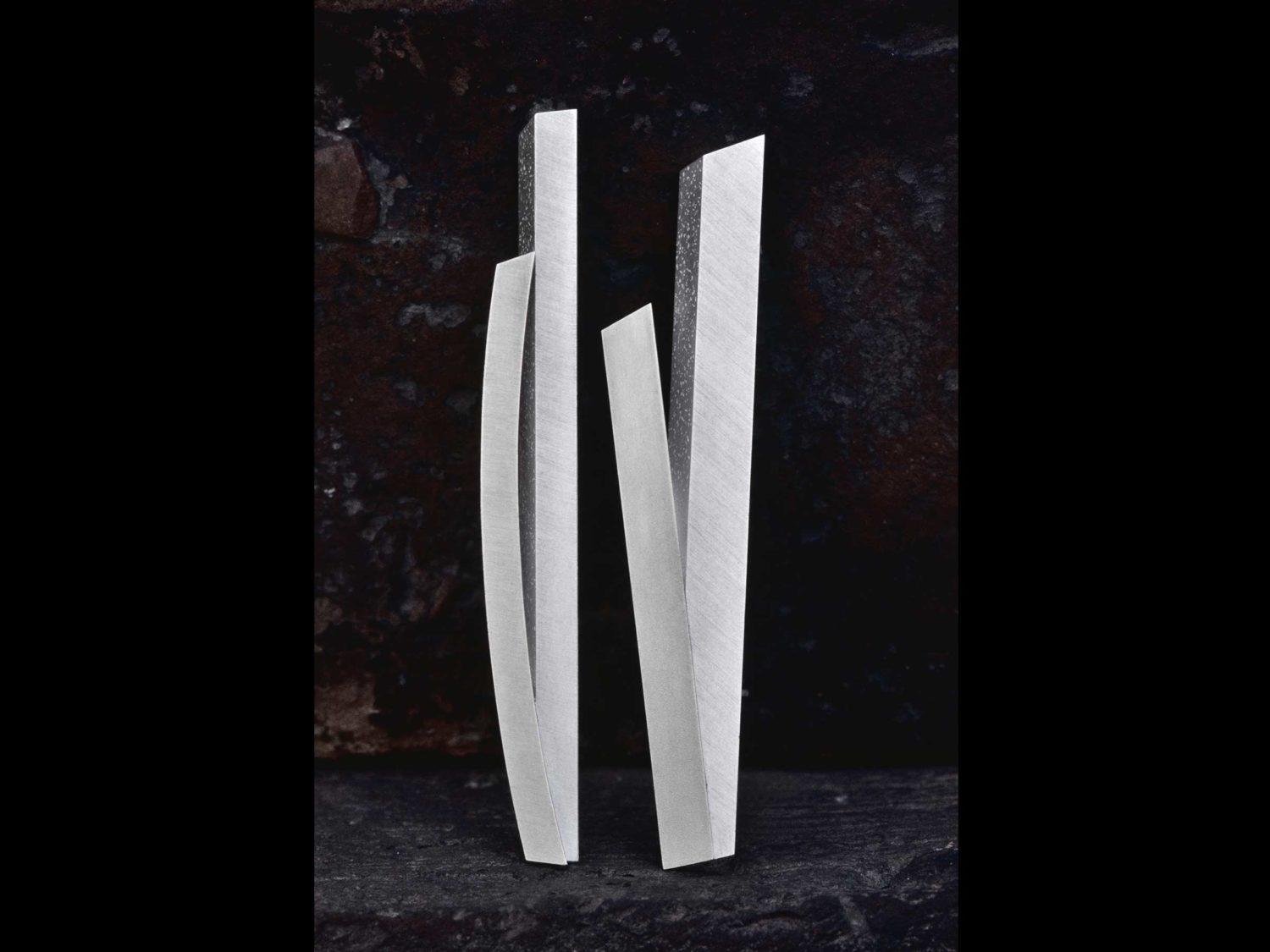 Two brooches, silver, 1997