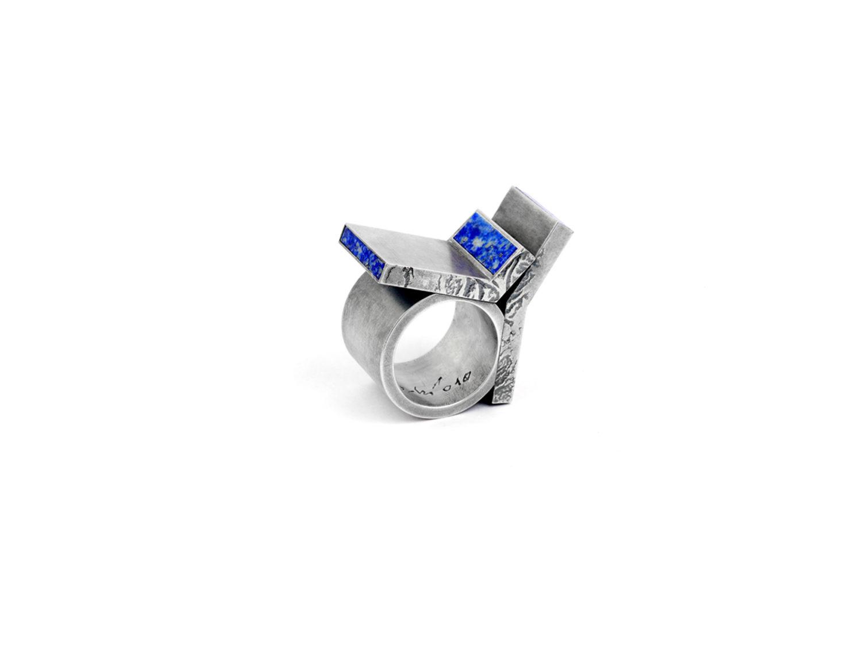 Ring, oxidized silver, lapislazuli, 2010