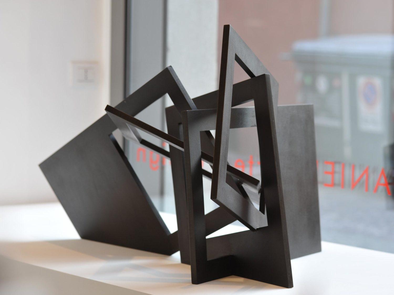 Sculpture, browned steel, ca. 120 × 72 × 72 cm,  2007
