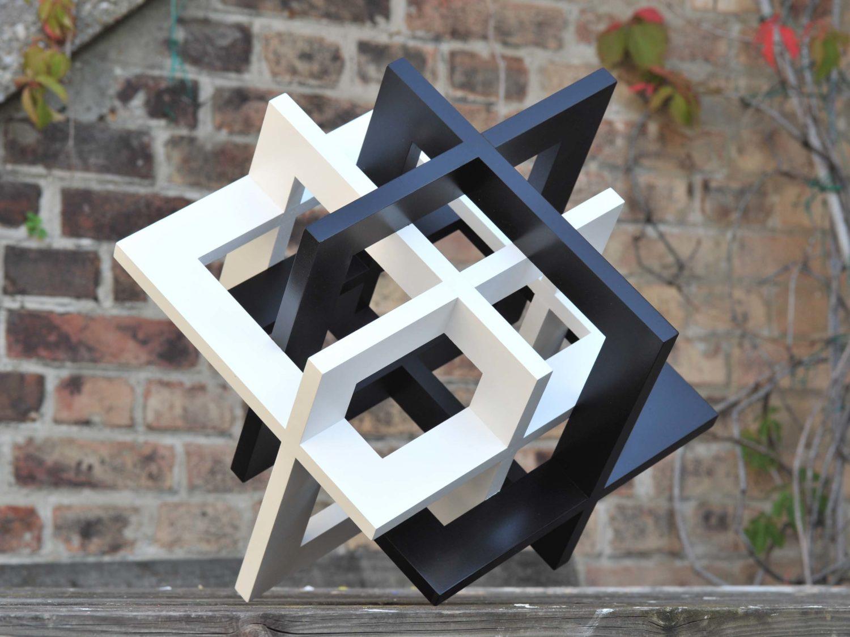 sculpture, wood, acrylic, 40 × 40 × 40 cm, 2008/09