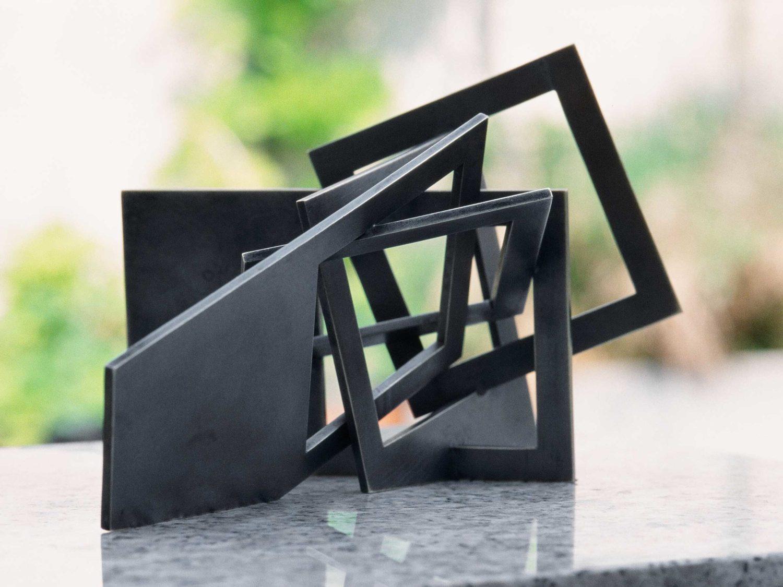 Miniature sculpture, Oxidized brass, 20 × 12 × 12 cm, 2006