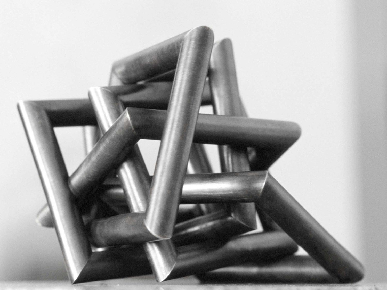 sculpture, oxidized brass,  15 × 19 × 15 cm, 2006