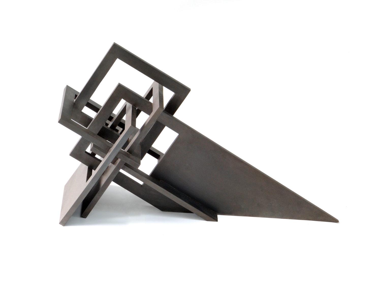 Sculpture, browned steel, 75.5 × 33 × 45 cm, 2009