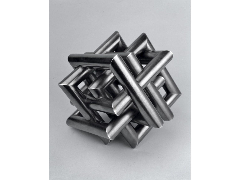 Miniature sculpture, oxidized silver, 11 × 11 × 11 cm, 2005
