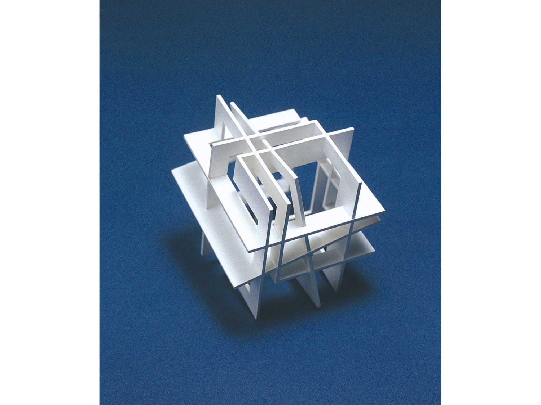 Miniature sculpture, silver, 5.5 × 5.5 × 6.0 cm, 2001